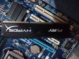 Memoria kinkston Hyperx Fury + Corsair DDR3 + processador pentium g2030