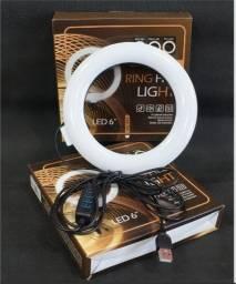 Ring Light Iluminador 6' polegadas - 16 cm de diâmetro + Tripé de Mesa