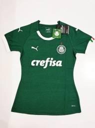 Camisa Palmeiras Home Feminina Puma 19/20 - Tamanhos: M, G