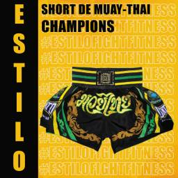 Short de Muay-thai fight shampions