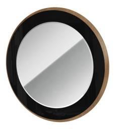 Espelho redondo bisotado em Moldura de Madeira e Vidro Pintado Anequim
