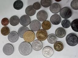 Colecao moedas antigas 140 pcs