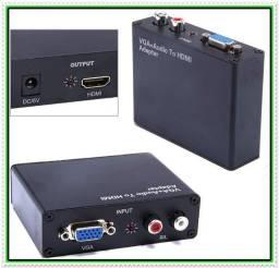Conversor VGA Para HDMI com Audio R/L. NOVO