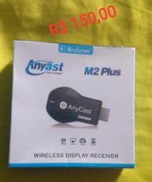 Vendo aparelho AnyCast.  Embalagem fechada.  Transforma sua TV em smart.  Apenas 150,00