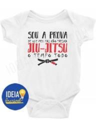 Body Bebê / Infantil - Sou A Prova De Que Meu Pai Não Treina Jiu-jitsu O Tempo Todo