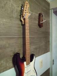 Suporte artesanal para violão e guitarra