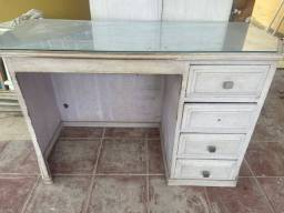 Escrivaninha de madeira maciça