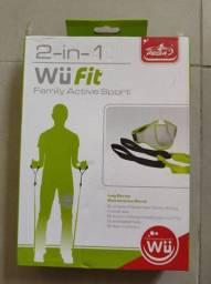 Kit Wii fit Wii U Pega ginástica treino para pernas com elástico Rubber band