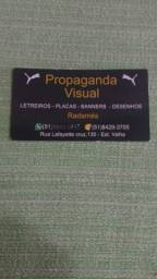 Letreiros (placas faixas banners)