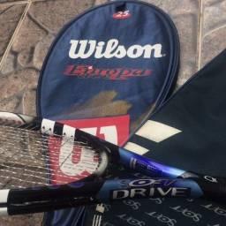 Raquete de Tênis Babolat Soft Drive + Raquete Wilson Europa Ace