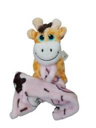 Pelúcia Girafa Segurando Cobertor Br Machine