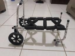 Cadeira de rodas andador para cachorro pequeno porte 3,5 a 7kg