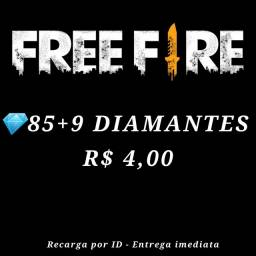 Diamantes Free Fire - envio na hora pelo ID