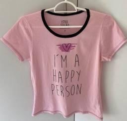 Vendo blusas baby look
