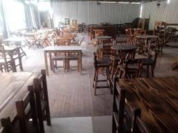 Mesas,cadeiras tudo de madeira,da fabrica para sua pizzaria,restaurante,bar