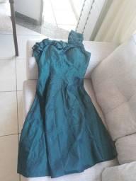 Vestido verde alça única