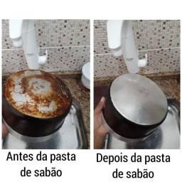 Pasta de sabão caseira 200g