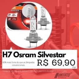 H7 Osram Silvestar - 60% mais luz que lâmpadas comuns