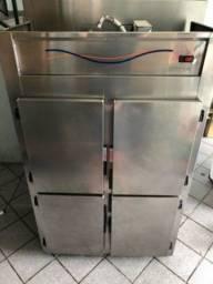 Refrigerador Gelopar Inox 4 Portas