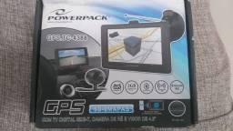 GPS Powerpack TC-4388, com TV digital, completo semi novo.