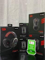 Mouse e Headset Gamer Redragon