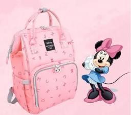 Mochila Maternidade Disney Minnie Original com aquecedor de mamadeira