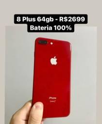iPhone 8 Plus 64gb Bateria 100% - Aceito Cartão