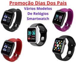 Promoção Dias Dos Pais Lindos Relógios Digitais Smartwatch Vários Modelos