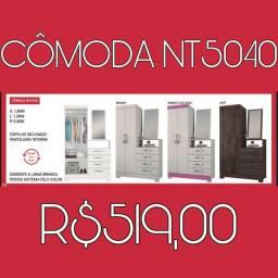 CÔMODA C/2 PORTAS E 4 GAVETAS PROMOÇÃO