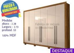 Promoção 100% MDF Guarda Roupa Itaguara 6P - Catálogo completo via whats