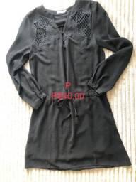 Vestido preto manga p
