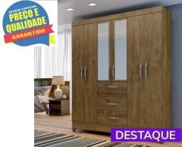Guarda Roupa Casal Itatiba 6 Portas - Catálogo completo via whats