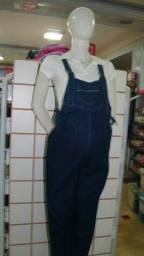Macacão jeans para Gestante Tamanhos: P / G