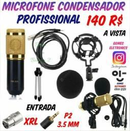 Microfone Condensador de Mesa Profissional para Gravações ( Loja Fisica )