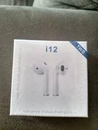 Fone i12 via Bluetooth novo