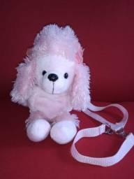 Bolsa cachorrinho poodle rosa