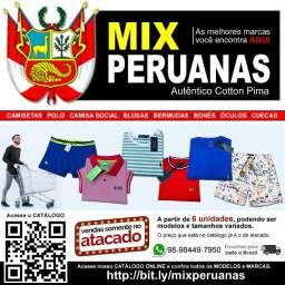 Mix Peruana - Camisetas, Camisas Sociais, Gola Polo, Cuecas, Calças e Bermudas