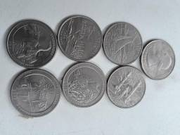 Coleção de Quarter de Dólar 13 Unidades
