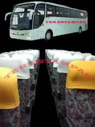 Cabeceiras de poltronas de ônibus , micro e vans