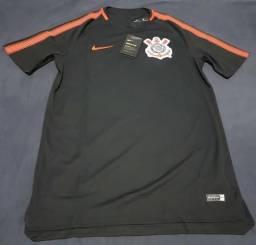 4506f86d90 Camisa treino Corinthians tamanho P preto e laranja Nike produto oficial e  original