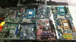 Kits placa mãe + Processador am2 ou Lga ddr2