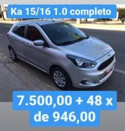Ka 2015/16 1.0 completo 7.500,00 mas 48x de 946,00