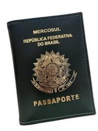 Porta Passaporte em couro legítimo