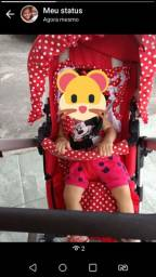 Carrinho e berço de bebê