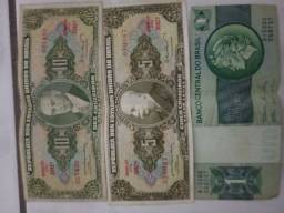 Dinheiro antigo. Cédulas ...