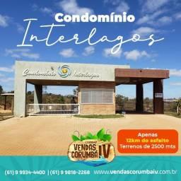 Condomínio Interlagos, Lotes 2.500 m², Corumbá IV, Infra pronta!