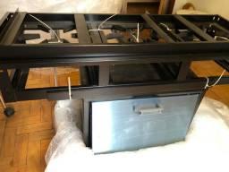 Vendo fogão industrial 3 bocas com forno