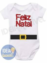 Body Infantil Feliz Natal - Modelo: 1