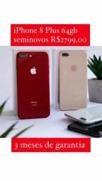 IPhone 8 Plus 64 gigas seminovo