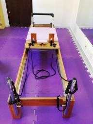 Parcelo Reformer de Madeira Pilates Arktus Rosa